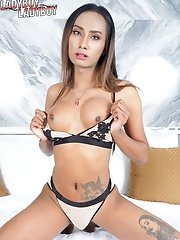 Ladyboy Aileen comes back with a fresher look and supermodel body, she is more comfortable being in front of the camera and creates really hot shots.