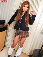Hot & Naughty Japanese TGirl Kureha Kanzaki In School Uniform!