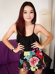 Samay is a beautiful 21 year old ladyboy who lives in Bangkok. She is slim, passable, fun, nice uncut cock and delicious ass. She is very clean, smart